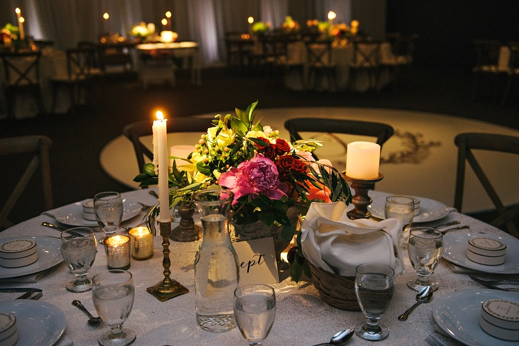 Centerpiece Highlighting at Owyhee Event Center Sound Wave Events