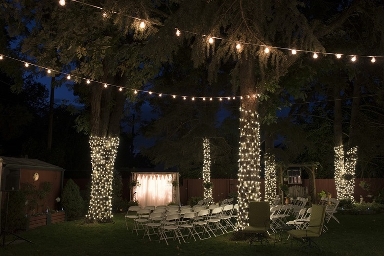 Twinkle Lights and Backdrop in Salt Lake City Utah Sound Wave Events